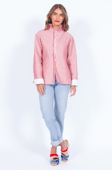Yo Vintage! Blush Pleated Reversible Jacket (Small-Med)