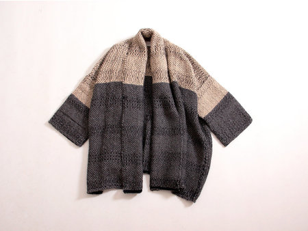 Atelier Delphine Haori Coat - Beige/Charcoal