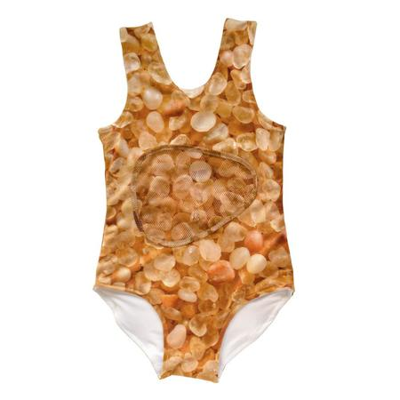 Kid's Slow and Steady Wins the Race Bathing Suit - Sand Print