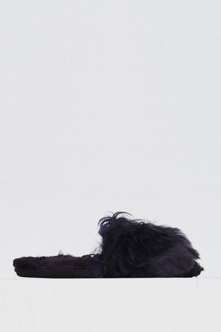 Ariana Bohling Alpaca Suri Slipper - Aubergine