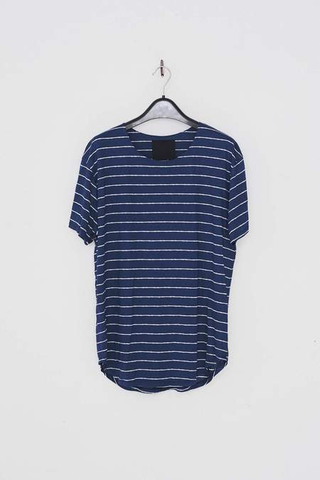 Assembly New York Cotton Stripe T-Shirt - Navy