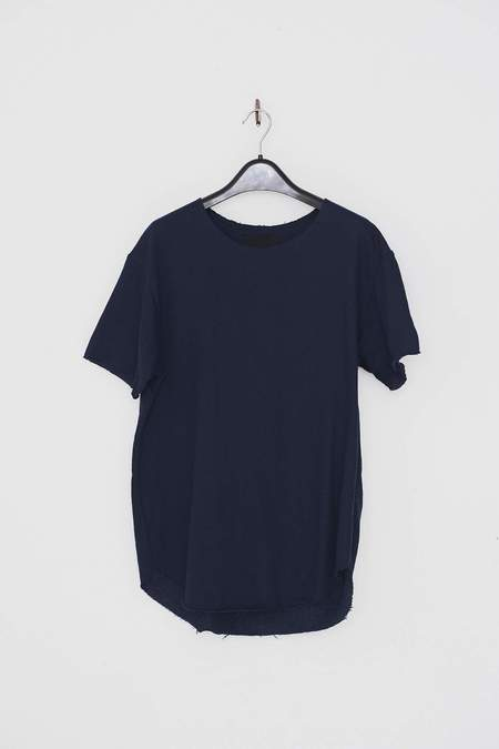 Assembly New York Terry Textured T-Shirt - Navy