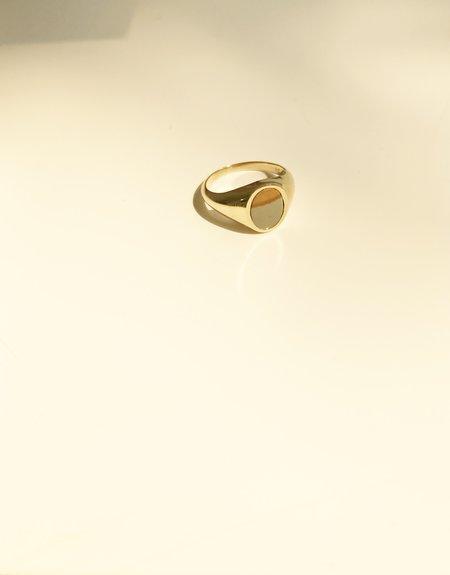 J. Hannah Oval Signet Ring (Lanscape Jasper)