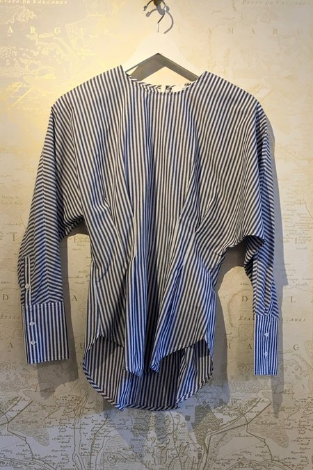 Camilla and Marc 'Simone' Pleat Waist Stripe Shirt
