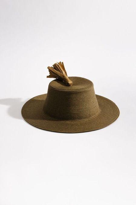 Samuji Tassel Hat - Khaki Green