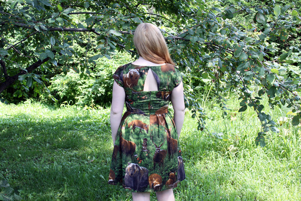 Birds of North America Macaw Dress (Woods)