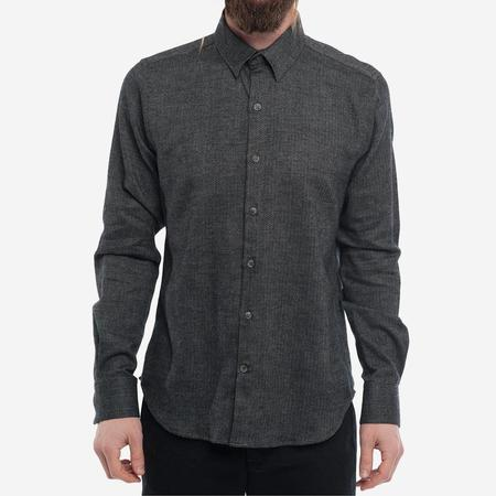 18 Waits The Dylan Shirt - Charcoal Mix Flannel