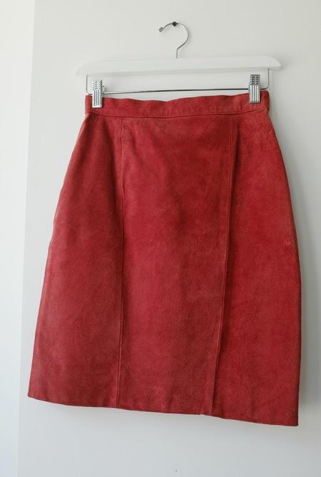 Hey Jude Vintage Tomato Suede Skirt