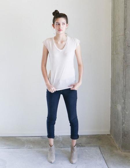 Q House of Basics Moss Tee in Blush