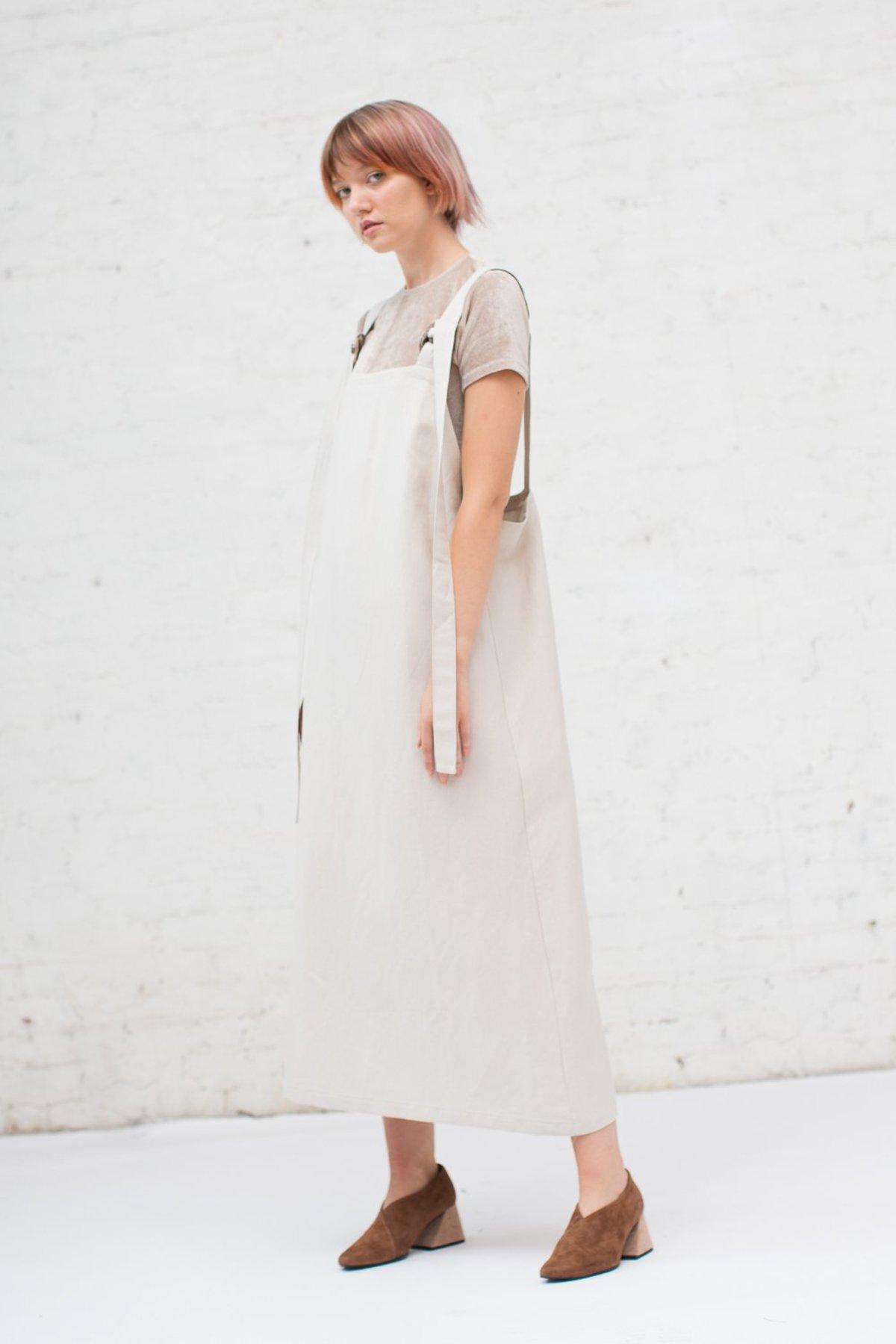 6679b21d7a Baserange Duffy Overall Dress in Beige