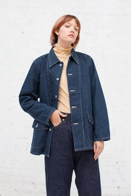Chimala US Army Denim Chore Jacket in Used Rinse
