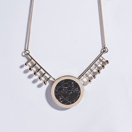 Metalepsis Projects Orbital Necklace | high polished brass