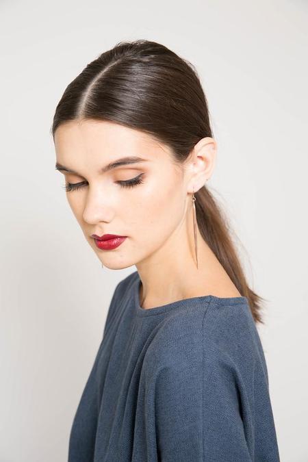 K/ller Rose Gold Quill Earrings