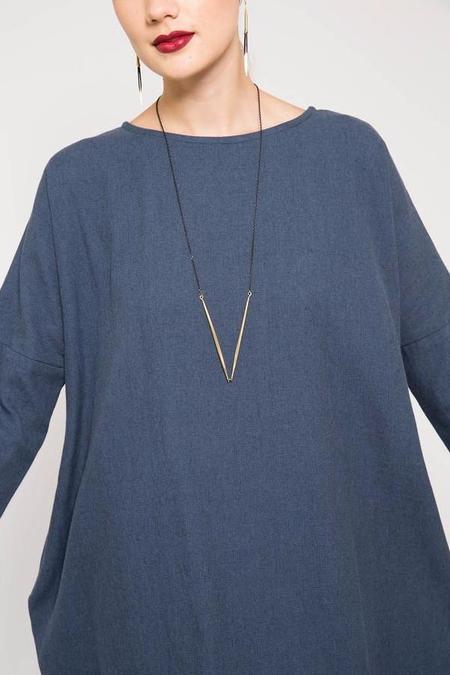 K/ller Single V Quill Necklace