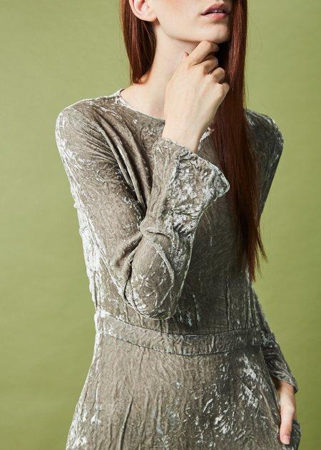 Hazel Brown Velvet Maxi Dress