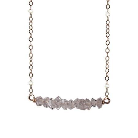 Strut Jewelry Herkimer Diamond Bar Necklace