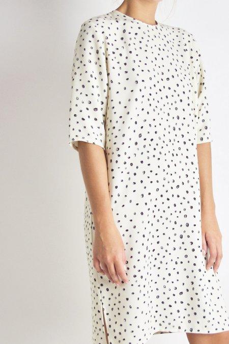 Beth Park Dress - Off White Dot Crepe