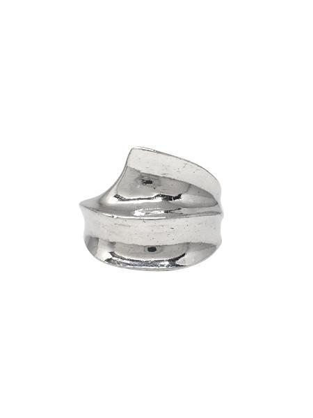 Beth Vintage Jewelry Wide Ripple Ring / Sterling Silver