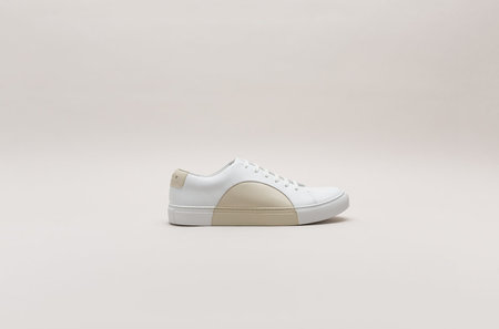THEY New York Circle Low in White/Beige
