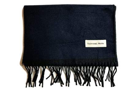 Universal Works Double Sided Scarf Navy & Black