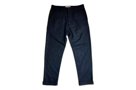 Universal Works Tapered Pant In Navy Wool Diamond