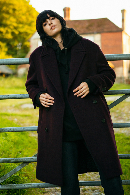 A. B Olsson Wool Coat- Wine