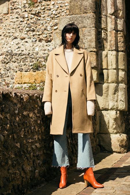 A. B Veronika Wool Coat- Beige