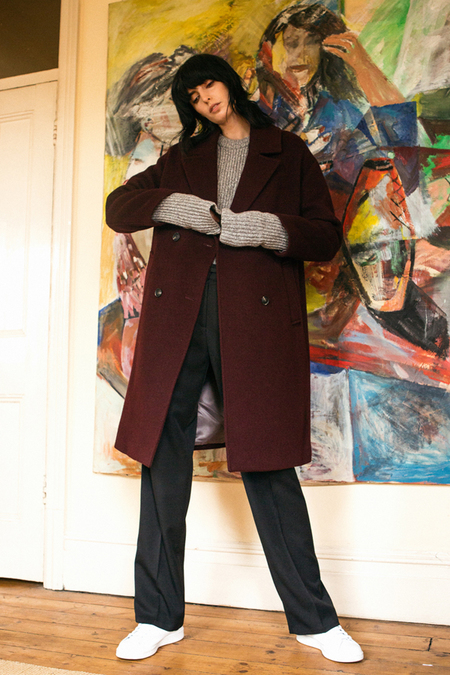 A. B Veronika Coat- Wine