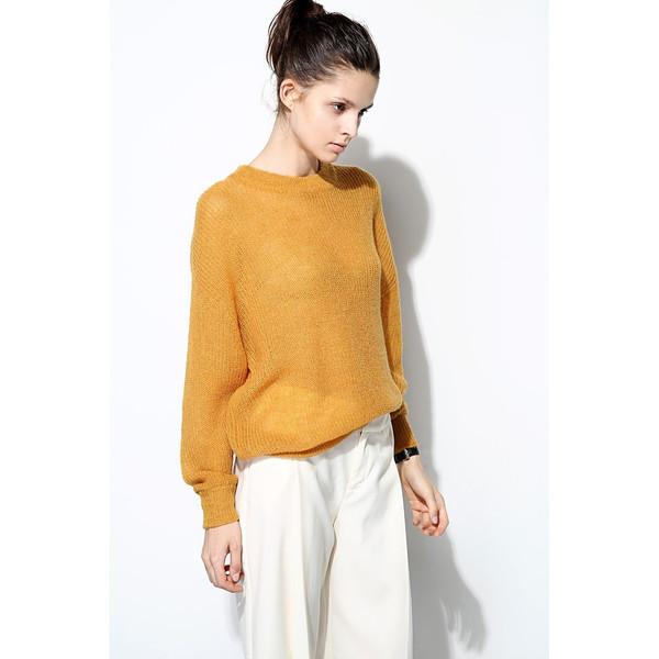 FEW MODA Slouchy Crew Neck Sweater