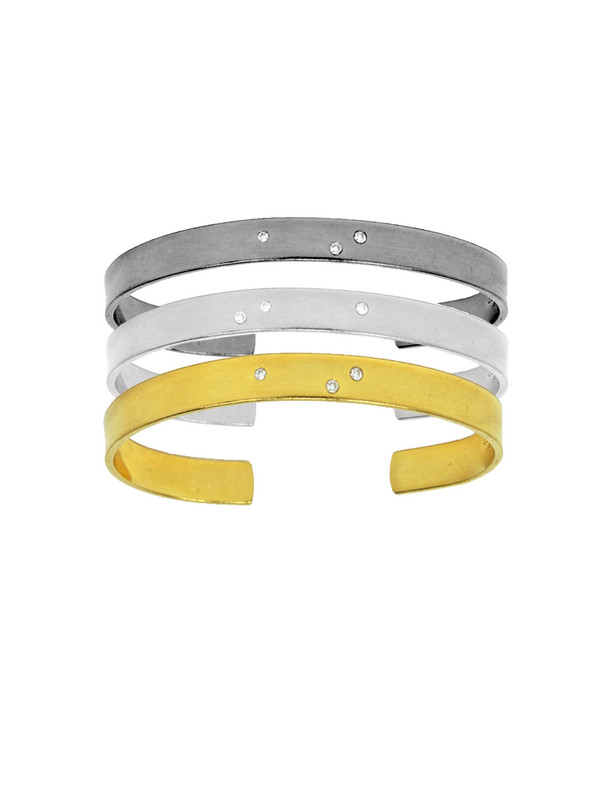 SíSí Design Three Diamond Silver Cuff