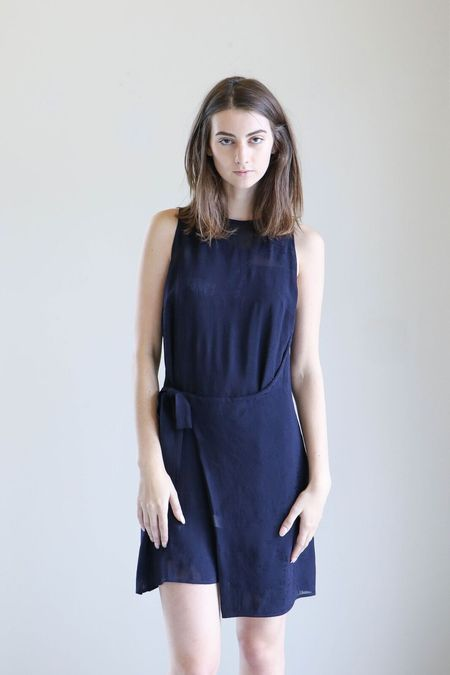 Where Mountains Meet Geo Dress in Navy