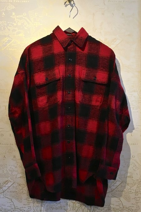 R13 X-Oversized Plaid Shirt