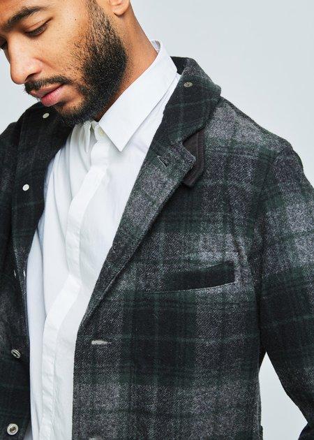 Sage de Cret Unstructured Plaid Wool Blazer