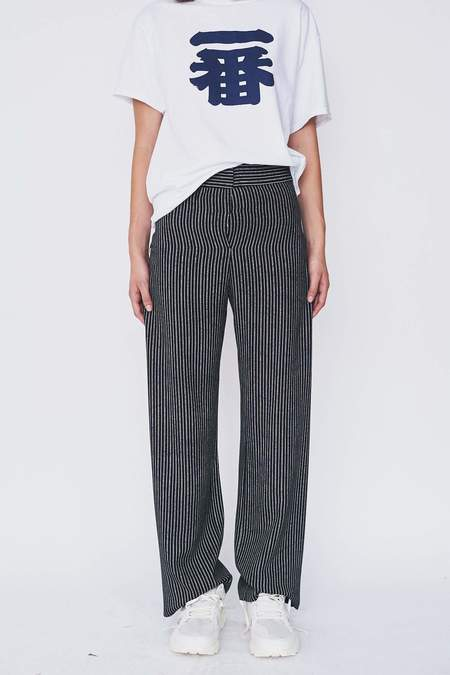 Assembly New York Bamboo Stripe Simple Pant