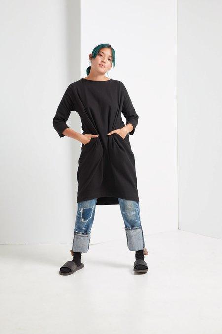 Black Crane Bud Dress - Black