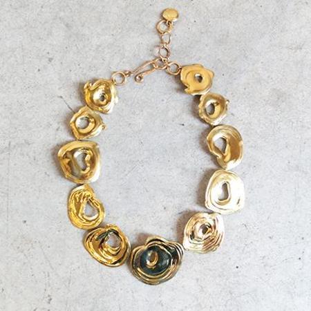 Leigh Miller Whirlpool Choker in Brass