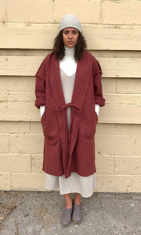 Priory Rye Boiled Wool Jacket - Maroon