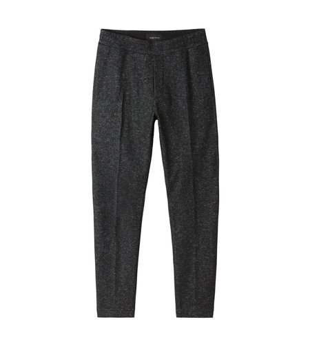 Wings + Horns Knit Wool Officer Pant - Marled Black