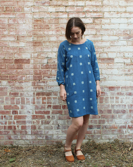 PO-EM Brunch Dress in Indigo