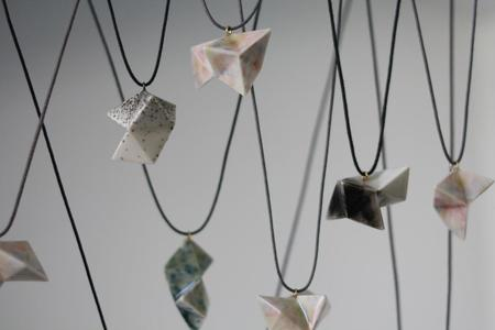 Kristen Lim Tung Triangle Cluster Necklace