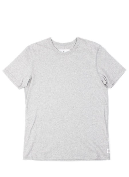 Reigning Champ SS Set-In Tee- Heather Grey