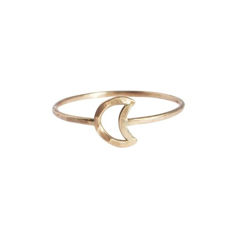 Stefanie Sheehan Gold Fill Crescent Moon Ring