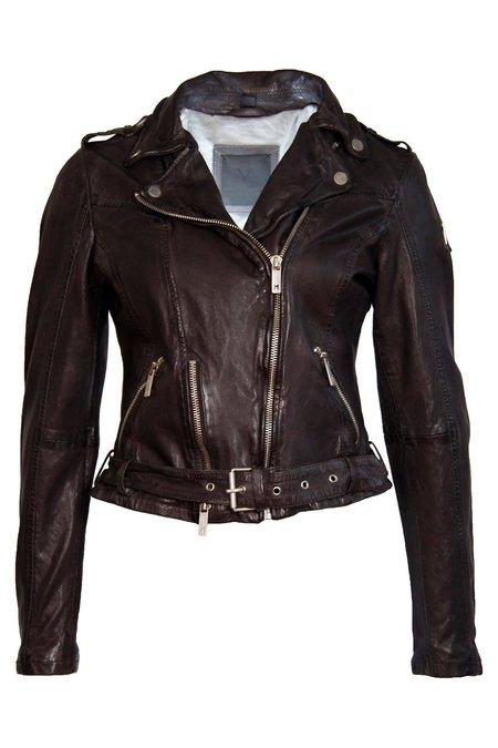 7 on Locust Wild Leather Jacket - Graphite