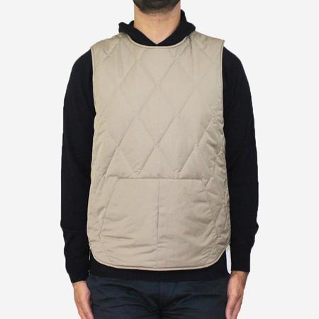 Still By Hand Pullover 3M Thinsulate Vest - Beige