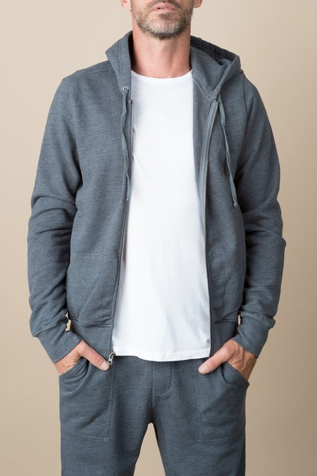 Save Khaki French Terry Hoodie In Metal