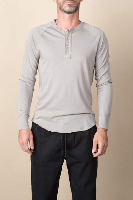 Save Khaki L/S Heavy Supima Henley In Coffee