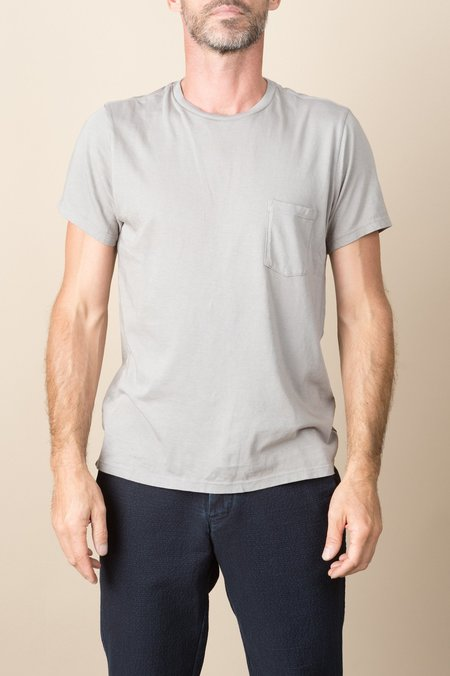 Save Khaki S/S Heavy Supima Pocket Tee In Coffee