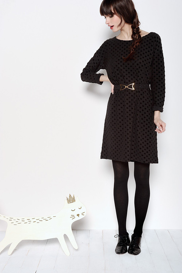 DES PETITS HAUTS RAFFY DARK DRESS