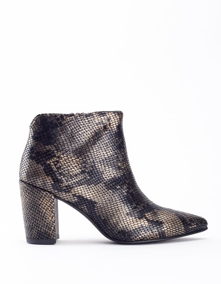 Vagabond Saida Boot- Black Metallic