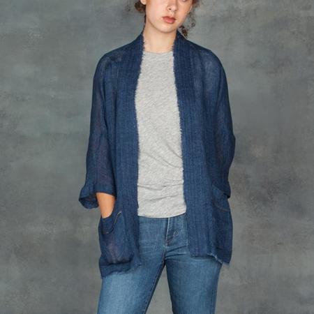 Giada Forte Indaco Linen Gauze Jacket